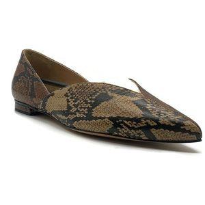 Schutz Katiely Snakeskin Print Leather Loafer
